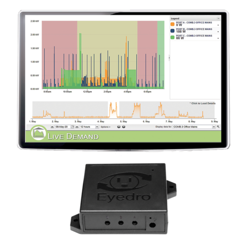 WiFi connected EYEFI-3-SUB Energy Monitor for 3 phase
